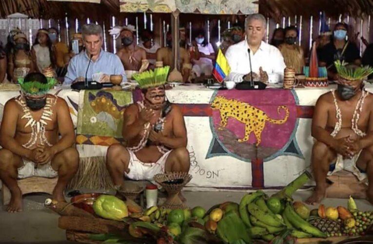 Furia de los indígenas del Amazonas por foto de Duque en Leticia